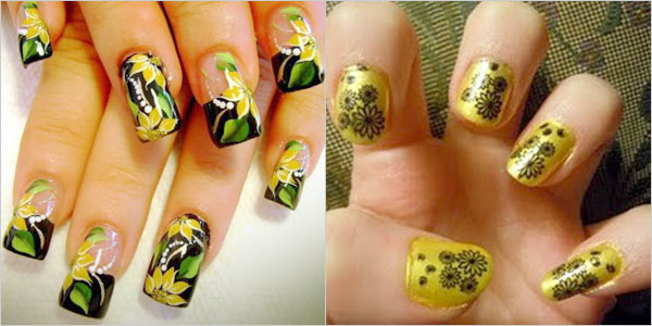 Creative-Yet-Cute-Yellow-Nail-Art-Designs