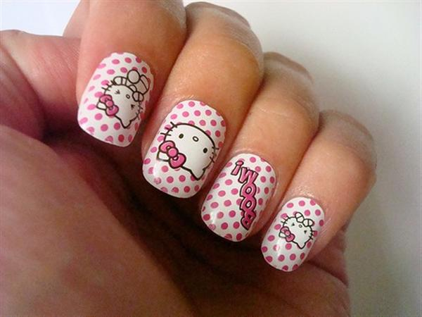 Czeshop Images Hello Kitty Nail Art For Kids