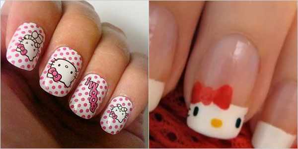 Cute And Attractive Hello Kitty Nail Art Designs And Stickers Girlshue