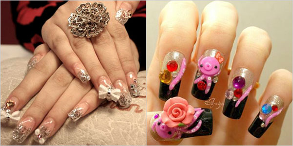 Elegant-And-Beautiful-Japanese-3D-Nail-Art-Designs-Supplies-And-Gallery