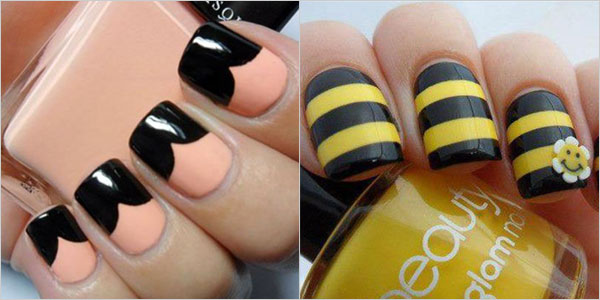 Simple black nail art designs supplies for beginners girlshue prinsesfo Image collections