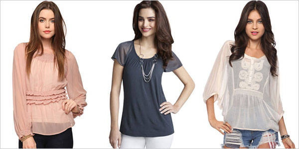 12  Simple & Stylish Sheer Tops, Shirts & Dresses Pics For Girls ...