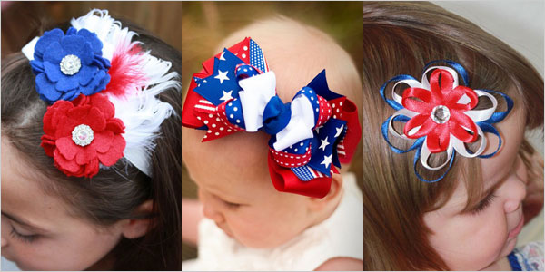 Celebrate-4th-Of-July-2012-Fourth-July-Hai-Accessories-Handmade-Bows-Hair-With-Ribbon