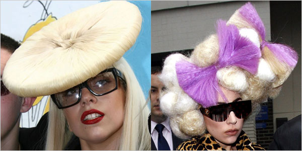 Sensational 30 Pictures Of Lady Gaga Crazy Hairstyles Wigs Amp Bow Hair Ideas Short Hairstyles For Black Women Fulllsitofus