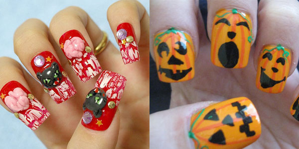 25 best scary halloween nail art designs ideas 2012 girlshue - Nail Design Ideas 2012