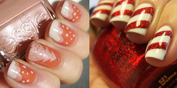 15 simple easy christmas nail art designs ideas 2012 for beginners learners girlshue - Nail Design Ideas 2012