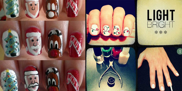 Best Easy Simple Christmas Nail Art Tutorials 2012 For Girls