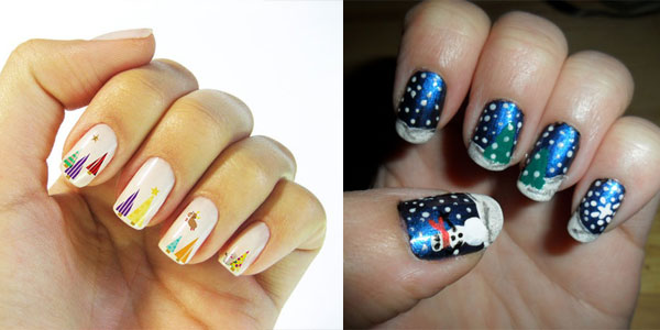 10 Best Easy Simple Christmas Tree Nail Art Designs Ideas