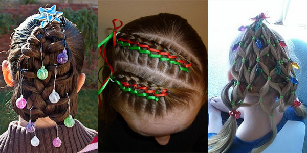 Cute Yet Crazy Christmas Tree Party Hairstyles Ideas 2017 For Kids S Shue