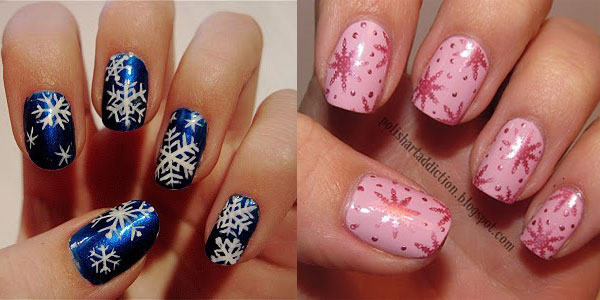 Nail Design Ideas 2012 embellished nail art ideas Easy Winter Snowflake Nail Art Ideas Designs 20122013 For Girls Girlshue