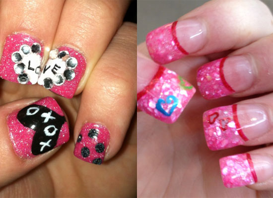 10 Best Simple Easy Valentines Day Nail Art Designs 2013 For Girls 10 ...