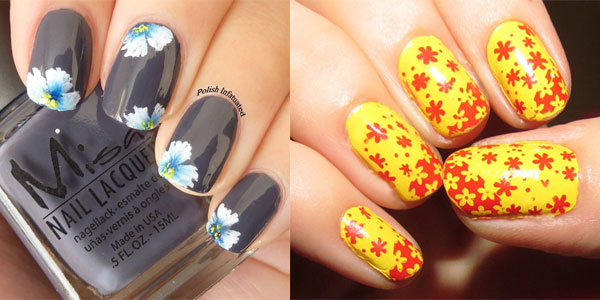girl nail 15 inspiring spring flower nail art designs