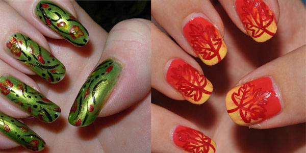 30 autumn tree leaf nail art designs ideas trends stickers autumn fall inspired nail art designs trends ideas for girls 2013 2014 prinsesfo Choice Image