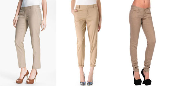Cool & Stunning Collection Of Khaki Pants For Girls 2013 | Girlshue