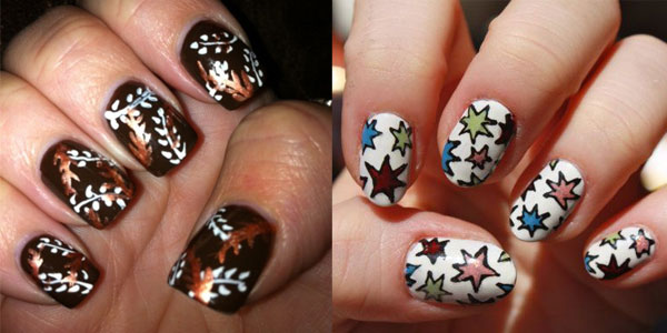 Latest-Autumn-Nail-Art-Designs-Trends-Fashion-For-Girls-2013-2014