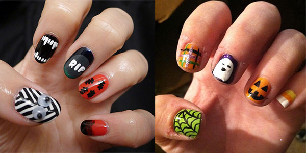 awesome yet scary halloween nail art designs ideas 2013 2014 - Halloween Easy Nail Art