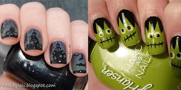 Best Scary Halloween Nail Art Designs Ideas Pictures 2013 2014