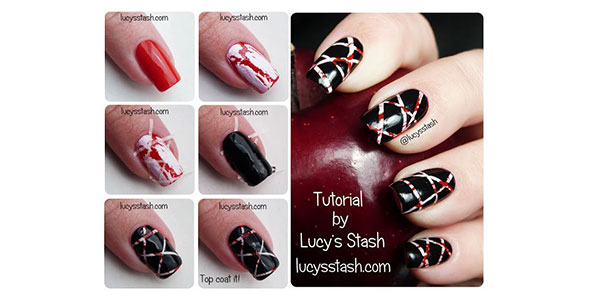 Easy Halloween Nail Art Tutorial Girlshue