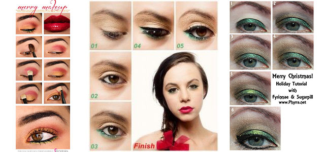 Awesome-Christmas-Make-Up-Tutorial-2013-2014-F