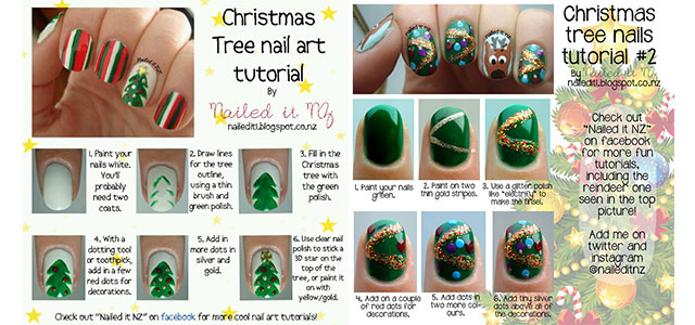 Easy-Simple-Christmas-Tree-Nail-Art-Tutorials-2013-2014-For-Beginners-Learners-F