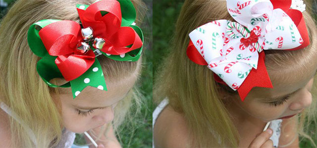 Awesome-Christmas-Hair-Bows-For-Kids-Girls-2013-2014-Hair-Accessories
