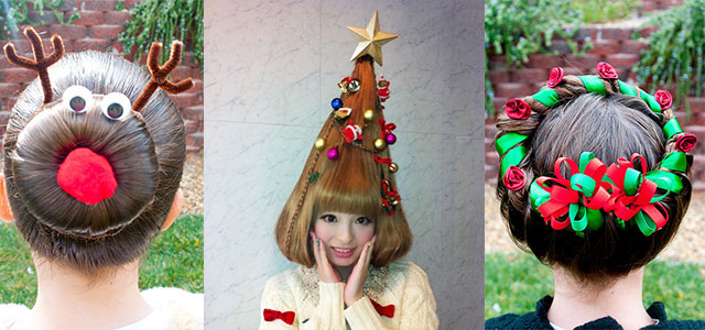 Cute Christmas Hairstyle Ideas For Kids & Girls 2013/ 2014 | X mas  Hairstyles | Girlshue - Cute Christmas Hairstyle Ideas For Kids & Girls 2013/ 2014 X Mas