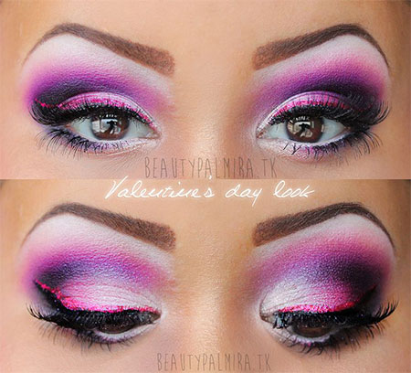 Amazing-Valentines-Day-Eye-Mak-Up-Looks-Ideas-2014-For-Girls-2