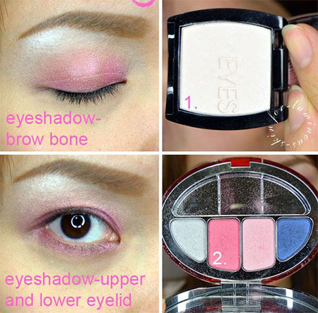 easy valentine's day eye make up tutorials 2014 for