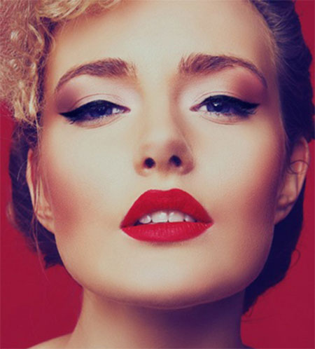Inspiring-Valentines-Day-Face-Make-Up-2014-For-Girls-5