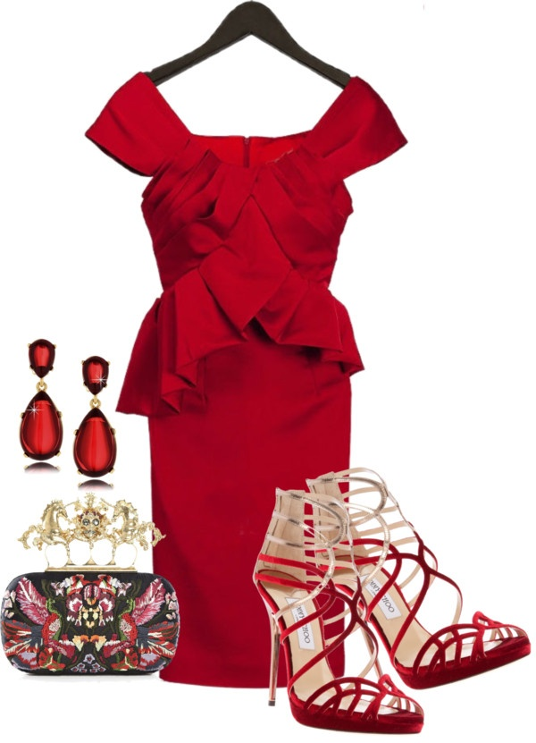 Polyvore-Valentines-Day-Casual-Red-Short-Long-Dresses-Ideas-For-Girls-Women-2014-1