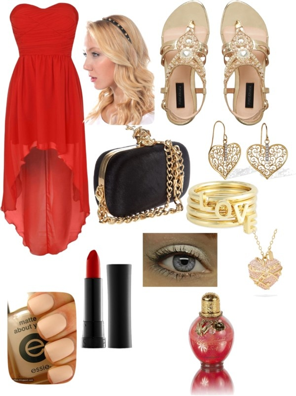 Polyvore-Valentines-Day-Casual-Red-Short-Long-Dresses-Ideas-For-Girls-Women-2014-11