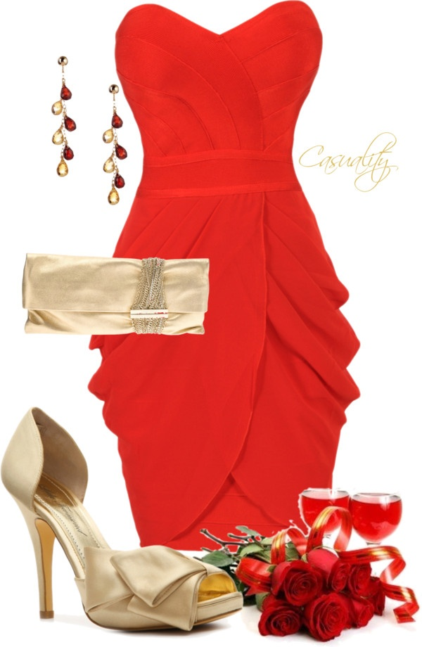 Polyvore-Valentines-Day-Casual-Red-Short-Long-Dresses-Ideas-For-Girls-Women-2014-2