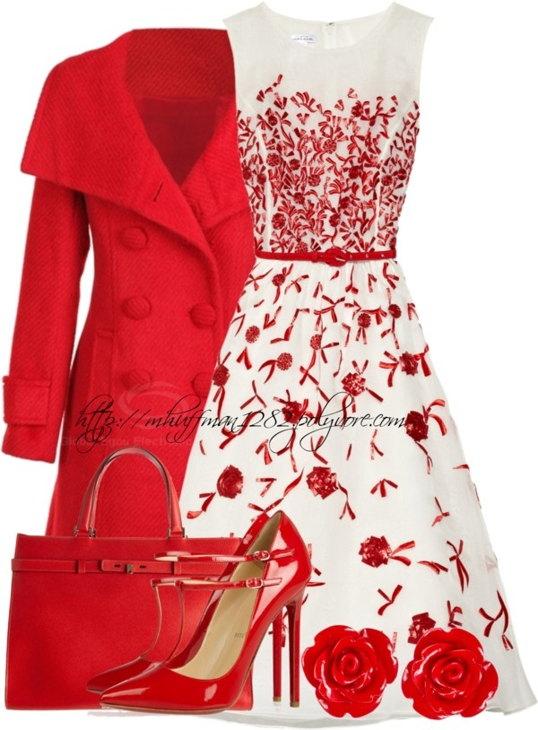Polyvore Valentine's Day Casual Red Short & Long Dresses Ideas For ...