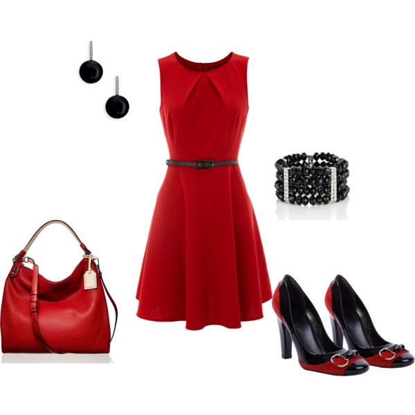 Polyvore-Valentines-Day-Casual-Red-Short-Long-Dresses-Ideas-For-Girls-Women-2014-6