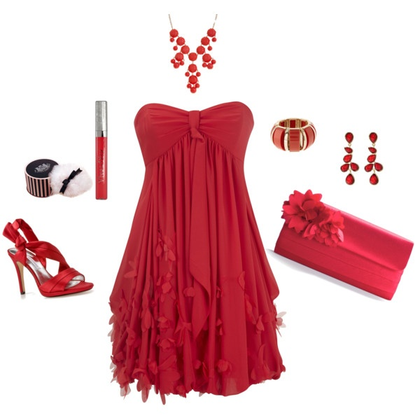 Polyvore-Valentines-Day-Casual-Red-Short-Long-Dresses-Ideas-For-Girls-Women-2014-8