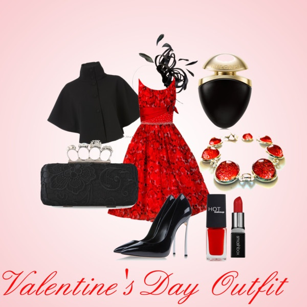 Polyvore-Valentines-Day-Casual-Red-Short-Long-Dresses-Ideas-For-Girls-Women-2014-9