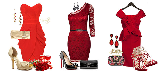 Polyvore-Valentines-Day-Casual-Red-Short-Long-Dresses-Ideas-For-Girls-Women-2014