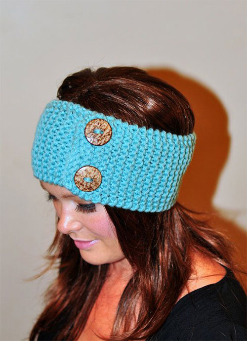 Knitted Headband With Bow Pattern : Winter Headbands With Bow, Crochet & Knitting Patterns For Women 2014 G...