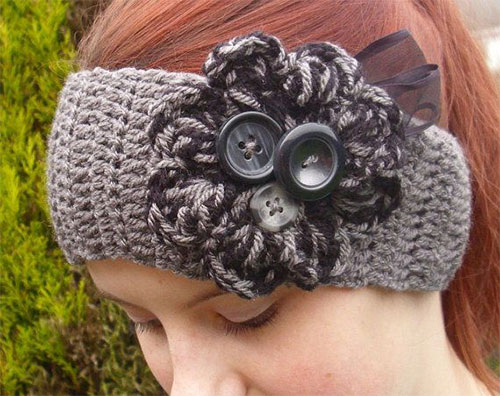 Winter Headbands With Bow Crochet Amp Knitting Patterns For