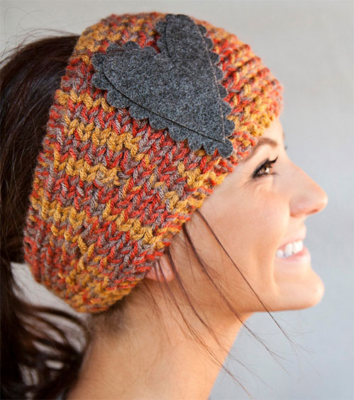Winter Headbands With Bow, Crochet & Knitting Patterns For Women 2014 G...