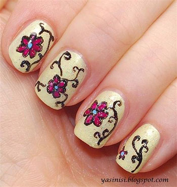 Cute Nail Art Designs for Spring /Summer 2014 - #2 - YouTube