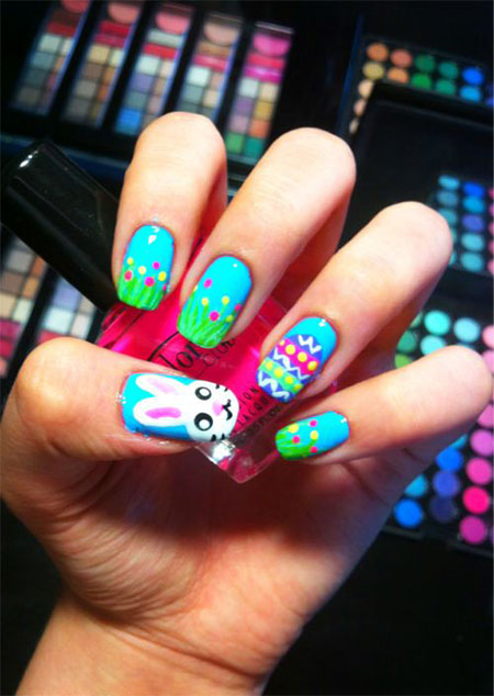 Amazing Easter Nail Art Designs Ideas Trends 2014 8 Amazing Easter Nail Art Designs, Ideas & Trends 2014