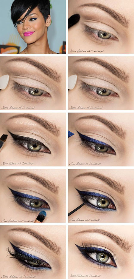 Easy-Step-By-Step-Eye-liner-Tutorials-2014-For-Beginners-Learners-2