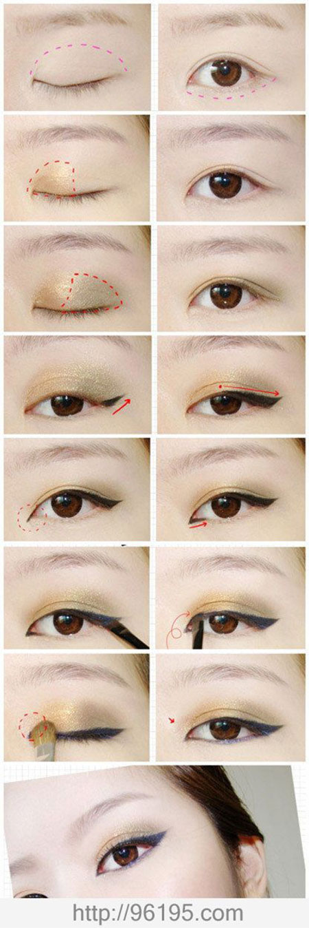 Easy-Step-By-Step-Eye-liner-Tutorials-2014-For-Beginners-Learners-3