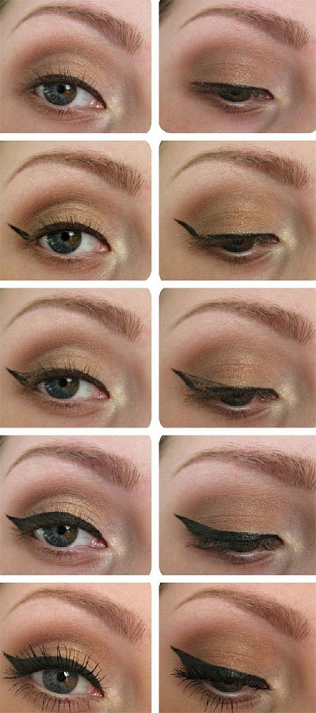 Easy-Step-By-Step-Eye-liner-Tutorials-2014-For-Beginners-Learners-6