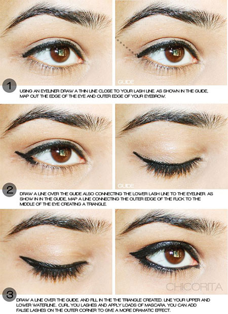 Easy-Step-By-Step-Eye-liner-Tutorials-2014-For-Beginners-Learners-9
