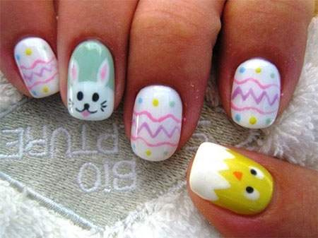 Elegant-Easter-Themed-Nail-Art-Designs-Ideas-Trends- - Elegant Easter Themed Nail Art Designs, Ideas & Trends 2014 Girlshue