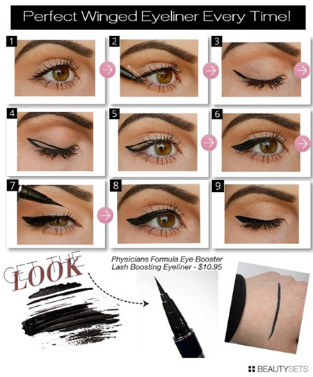 Simple-Eye-liner-Tutorials-2014-For-Beginners-Learners-1