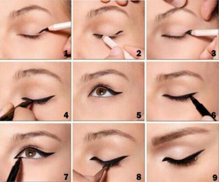 Simple-Eye-liner-Tutorials-2014-For-Beginners-Learners-2