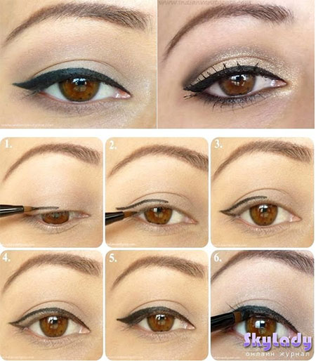 Simple-Eye-liner-Tutorials-2014-For-Beginners-Learners-3